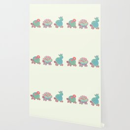 Cactus tortoise Wallpaper