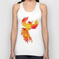 phoenix Tank Tops featuring Phoenix by Paula Belle Flores