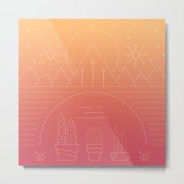 """""""Morning Desert"""" Metal Print"""