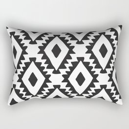 Aztec geometrics - B&W Rectangular Pillow