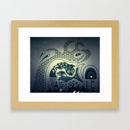 Midnight swirls Framed Art Print
