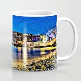 Dusk on Mykonos Beach Coffee Mug