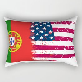 Portuguese American Rectangular Pillow
