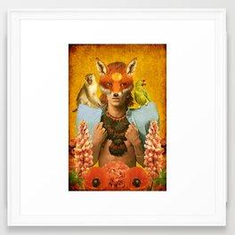 Foxy Bowie Framed Art Print