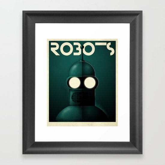 Robots - Bender Framed Art Print