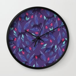 WEIM HEART LEAVES Wall Clock