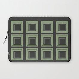 Green Squares Laptop Sleeve
