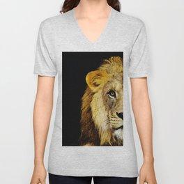 Lion Art - Face Off Unisex V-Neck