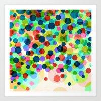 Happy Rainbow Confetti Art Print