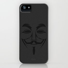 Minimalist Anonymous / Occupy / Guy Fawkes Mask  iPhone Case