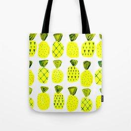 Modern Pineapples Painting Tote Bag