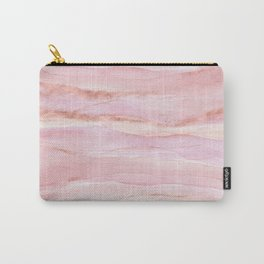 Watercolor Layers Rose Gold Carry-All Pouch