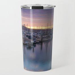 Nature's Hues Sunset at Half Moon Bay Travel Mug