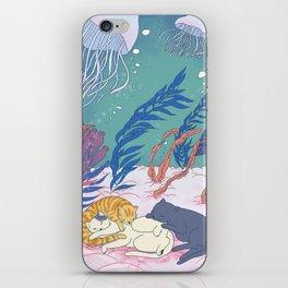sleeping cats iPhone Skin