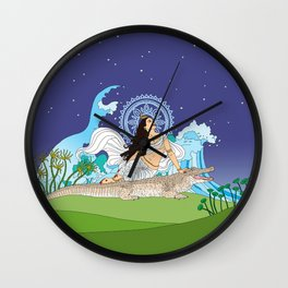 Ganga of the Himalayas Wall Clock