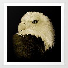 American Eagle Profile Art Print