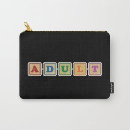 All Grown Up Letter Blocks Carry-All Pouch
