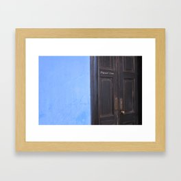 Blue Mansion in Penang, Malaysia (2013c) Framed Art Print