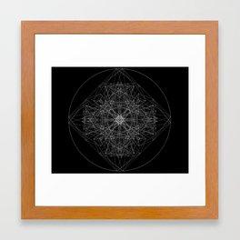 Angel Cell 01 : white on black Framed Art Print