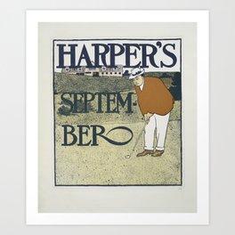Harper's September golf Art Print