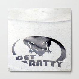 Get Ratty Bad Rat Metal Print