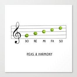 Peas & Harmony Canvas Print
