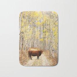 Cow in aspens Bath Mat