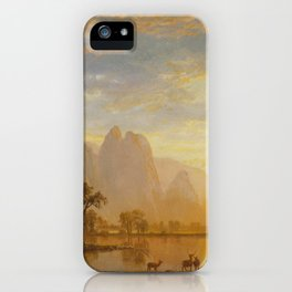 Albert Bierstadt - Valley of the Yosemite (1864) iPhone Case