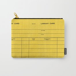 Library Card BSS 28 Yellow Carry-All Pouch