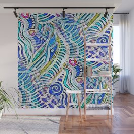 Under the Sea Abstract Nautilus  Wall Mural