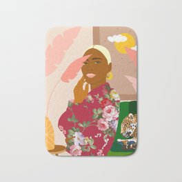 There's Peaceful. There's Wild. I'm Both At The Same Time #illustration Bath Mat