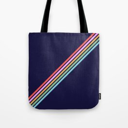 Bathala - Minimal Classic 80s Style Graphic Design Stripes Tote Bag