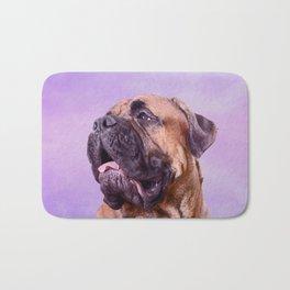 Bullmastiff dog Bath Mat