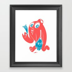 ink stain on my heart Framed Art Print