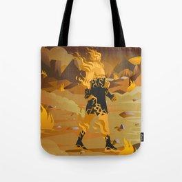 fire titan elemental creature Tote Bag