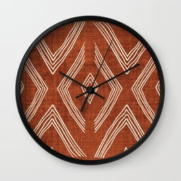 Birch in Rust Wall Clock