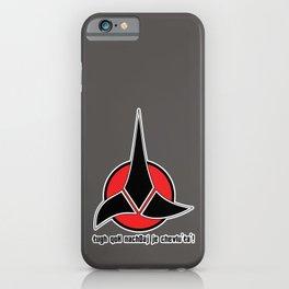 Klingon Quotes iPhone Case