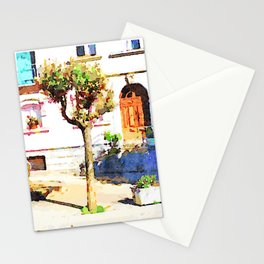 Borrello: square with water well Stationery Cards