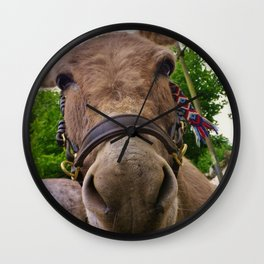 CUTE DONKEY FACE Wall Clock