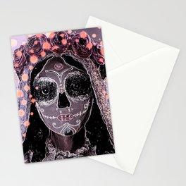 Novia Dia de los Muertos Estrellas Stationery Cards