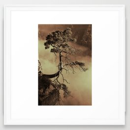Mystic lonely tree Framed Art Print