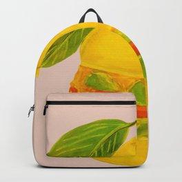 Eat Green Love Planet Pear Burger with Avocado Veggie Cheese Beige BG Art Print Backpack