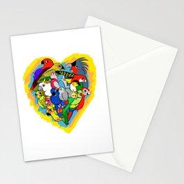 I heart parrots cute cartoon Stationery Cards