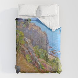 Springtime at the blue bay Comforters