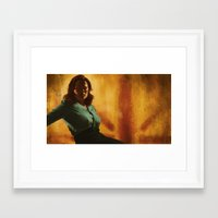 agent carter Framed Art Prints featuring Agent Carter by Celina Hulshof