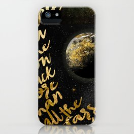 Moon and Back iPhone Case