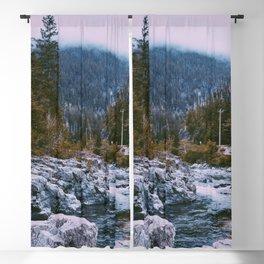Autumn Haze Creek  Blackout Curtain