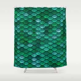 Green Penny Scales Shower Curtain