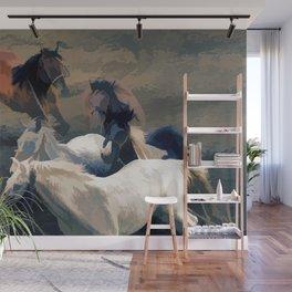 Breaking Away   -  Wild Horses Wall Mural