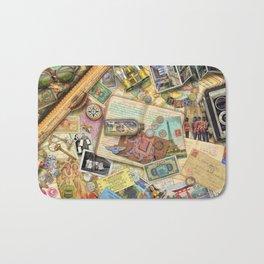 Vintage World Traveler Bath Mat